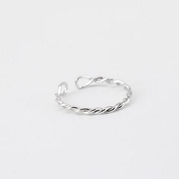 Ежедневен дамски пръстен в сребрист и златист цвят