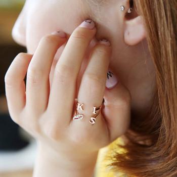 Дамски пръстен с надпис в три цвята