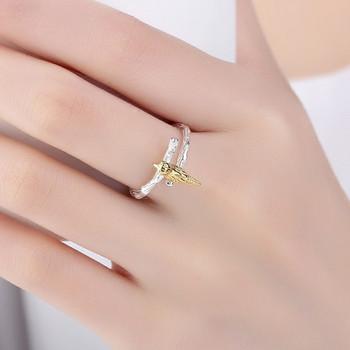 НОВ модел  дамски пръстен с 3D елемент