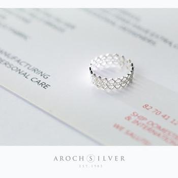 Дамски нежен пръстен в сребрист цвят