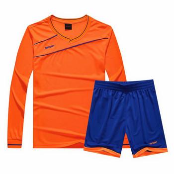 Спортен мъжки комплект от две части - блуза с дълъг ръкав и къси панталони в няколко цвята