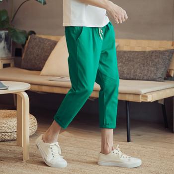 Пролетен мъжки панталон с 9/10 дължина в няколко цвята