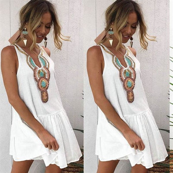 Casual φόρεμα για γυναίκες με λευκό κοστούμι