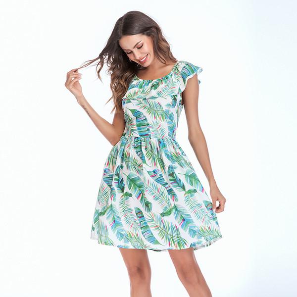 e460d9466f4 НОВО Актуална дамска рокля с флорален мотив - Badu.bg - Светът в ръцете ти