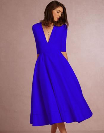 Κομψή κυρία φόρεμα μοτίβο κομμένα σε διάφορα χρώματα