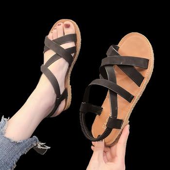 Дамски ежедневни сандали в два цвята с ластик