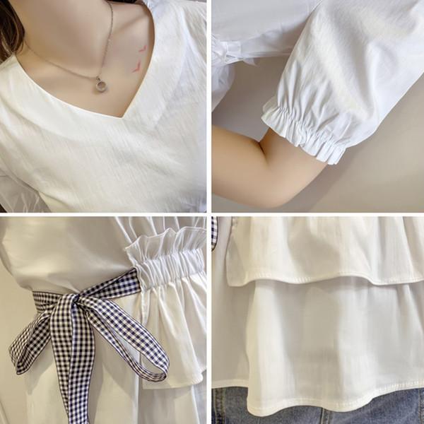 ee312f094c8b Κυρίες μοντέρνες μπλούζες με ντεκολτέ σε σχήμα V σε δύο χρώματα - Badu.gr Ο  κόσμος στα χέρια σου