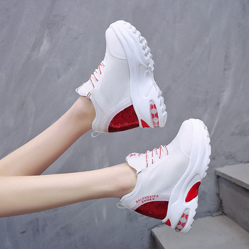 Дамски маратонки на платформа - два модела с пайети