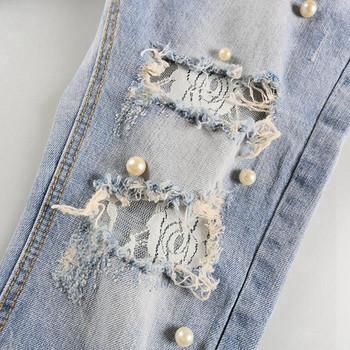 Нов модел дамски дънки с накъсани мотиви