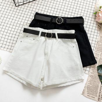 Ежедневни дамски къси панталони с висока талия в няколко цвята