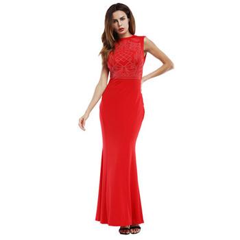 Стилна дамска рокля в няколко цвята