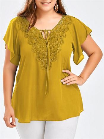 Стилна дамска блуза в няколко цвята с размери до 5XL