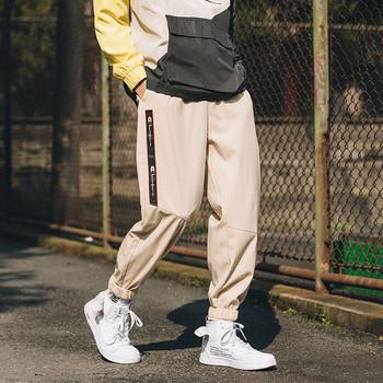 Спортно-ежедневен мъжки панталон с надписи в три цвята