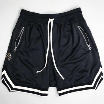 Спортни мъжки къси панталони в четири цвята с джобове
