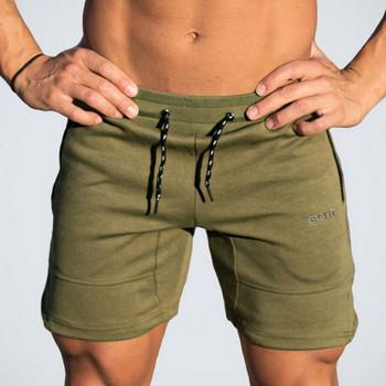 Ежедневни мъжки къси панталони в три цвята с връзки и джобове