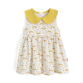 Детска рокля в бял цвят за момичета