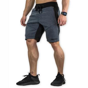 Ежедневни мъжки къси панталони в три цвята с надпис и връзки