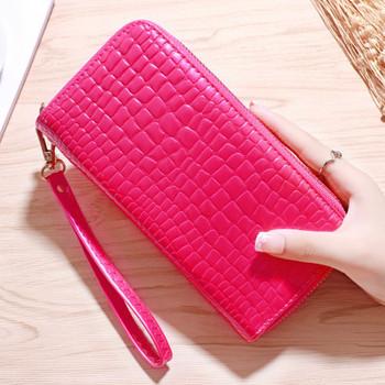 Κομψό γυναικείο  πορτοφόλι με κοντή λαβή σε διάφορα χρώματα