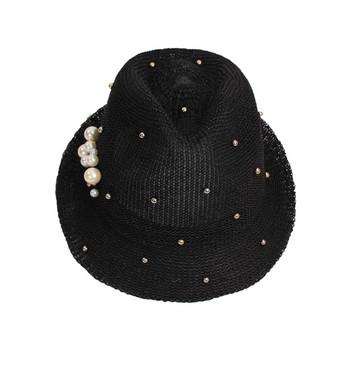 d0841df1555 Лятна дамска шапка с перли в няколко цвята - Badu.bg - Светът в ...