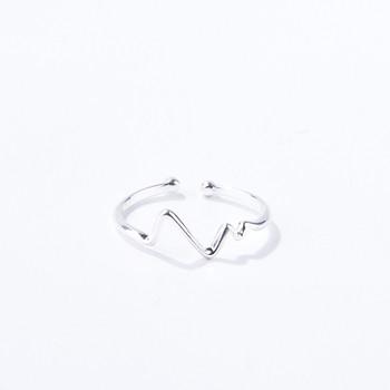 Модерен дамски регулируем пръстен в сребрист цвят