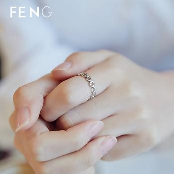 Семпъл пръстен за жени в сребрист цвят