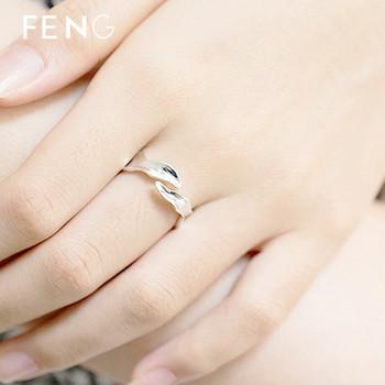 Ежедневен дамски регулируем пръстен в сребрист цвят