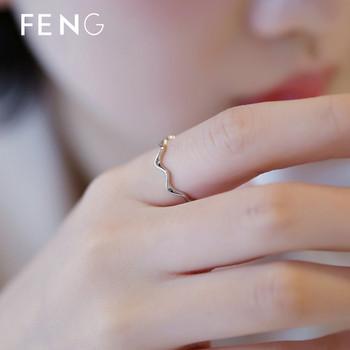 Модерен дамски тънък пръстен в сребрист цвят