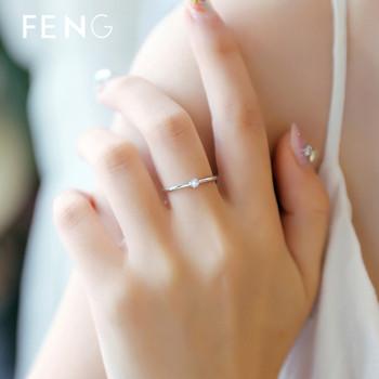 Семпъл дамски пръстен с декоративен камък