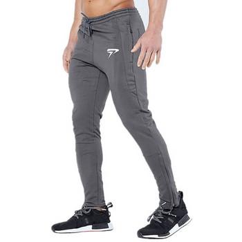 Мъжки спортен панталон в три цвята с апликация
