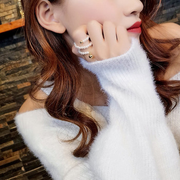 Дамски модерен пръстен с перли