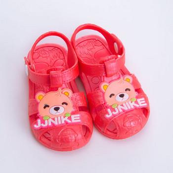 Модерни детски сандали с апликация за момичета
