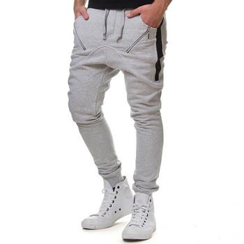 Спортно-ежедневен мъжки панталон в три цвята с джобове и връзки