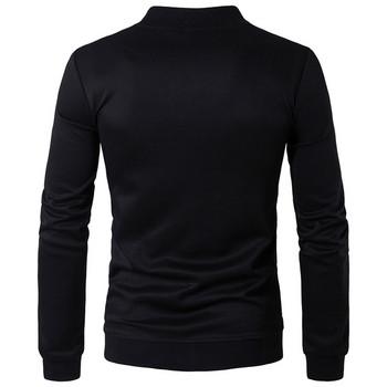 Спортен мъжки анцуг в черен цвят