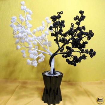 Сувенир от мъниста - Декоративно Фън Шуй дърво Ин и Ян - 51 см