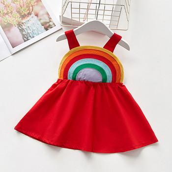 a2abdd468de Πολύχρωμο παιδικό φόρεμα για κορίτσια σε κόκκινο χρώμα - Badu.gr Ο ...