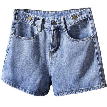 Ежедневни дамски къси панталони в син,черен и бял цвят