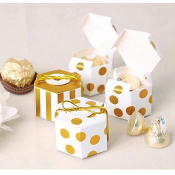 Малка кутия за бонбони в няколко цвята - два модела