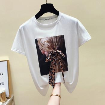 200530e9226f Μοντέρνο γυναικείο μπλουζάκι σε μαύρο και άσπρο με εφαρμογή - Badu ...