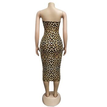 Κομψό γυναικείο φόρεμα με λεοπάρδαλη πριντ σε διάφορα χρώματα