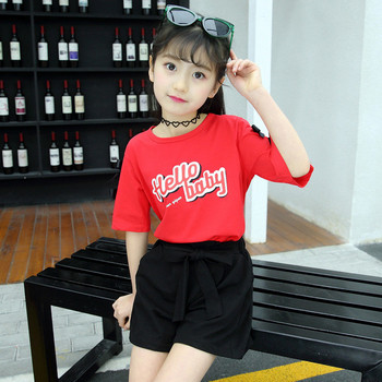 Μοντέρνο παιδικό σετ - παντελόνι και μπλούζα για κορίτσια