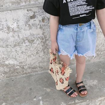 Нов модел детски панталони с разкъсани мотиви
