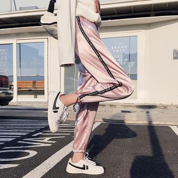 Дамски спортен панталон с кант в пет цвята
