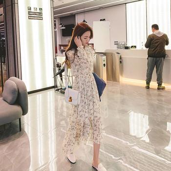 Γυναικείο φόρεμα τούλι με floral εκτύπωση
