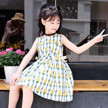 Παιδικό φόρεμα για κορίτσια με λαιμόκοψη