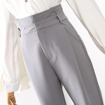 Κομψά γυναικεία παντελόνια με ψηλή μέση σε τρία χρώματα