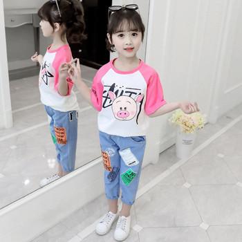 Καθημερινό  παιδικό σετ - παντελόνια και μπλούζα σε δύο χρώματα