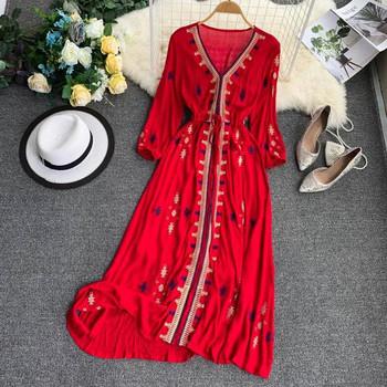Γυναικείο φόρεμα παραλίας με εκτύπωση