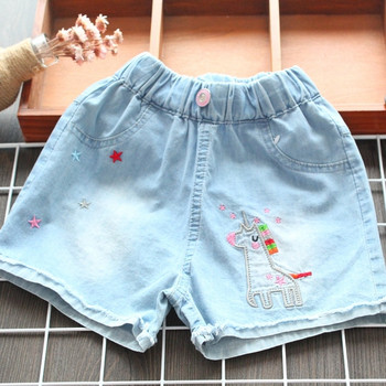 Детски къси панталони в син цвят за момичета