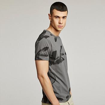 Ежедневна мъжка тениска с къс ръкав в сив цвят