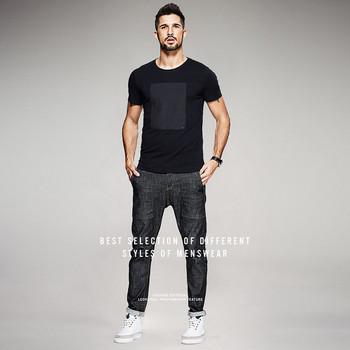 Ежедневна мъжка тениска  в черен цвят